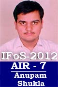 IFoS 2012 Successful Student AIR 7