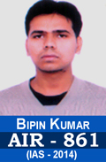 Bipin Kumar AIR-861 IAS-2014