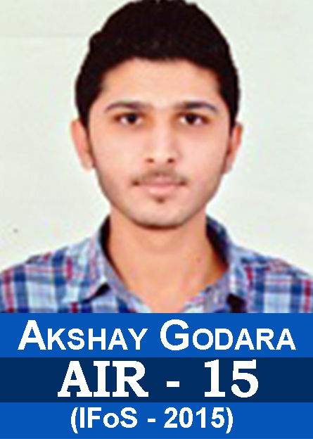 IFoS-2015 Examination Successful Students Results AIR-15 Akshay Godara