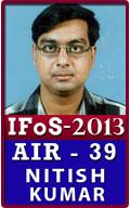 IFoS 2013 Successful Nitish-Kumar-Air-39