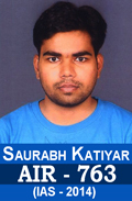 Saurabh Katiyar AIR-763 IAS-2014