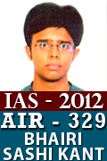 IAS 2012 Successful Student AIR 329