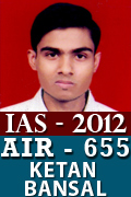 IAS 2012 Successful Student AIR 655