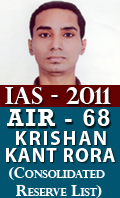 IAS 2011 Successful Student AIR 68