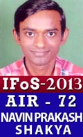 IFoS 2013 Successful Student AIR 72