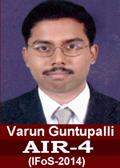 Varun Guntupalli IFoS-2014 AIR-4 in IFoS 2014 Examination