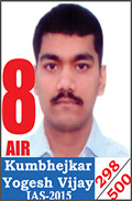 UPSC Civil Service Examination IAS-2015 Successful Student AIR-8