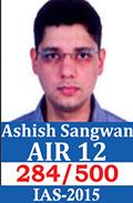 UPSC Civil Service Examination IAS-2015 Successful Student AIR-12