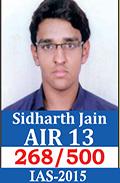 UPSC Civil Service Examination IAS-2015 Successful Student AIR-13
