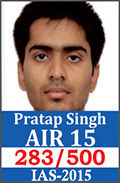 UPSC Civil Service Examination IAS-2015 Successful Student AIR-15