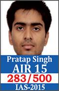 UPSC Civil Service Examination IAS-2015 Successful Student AIR-15