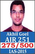 UPSC Civil Service Examination IAS-2015 Successful Student AIR-251
