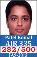 UPSC Civil Service Examination IAS-2015 Successful Student AIR-194