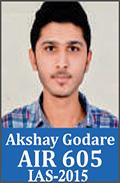 UPSC Civil Service Examination IAS-2015 Successful Student AIR-605
