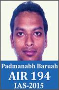 UPSC Civil Service Examination IAS-2015 Successful Student AIR-194