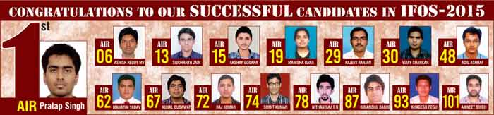 IFoS-2015 Topper with Mathematics Optional From IMS-Institute of Mathematical Sciences