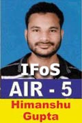 himanshu-ifos-2011 Successful Aspirant