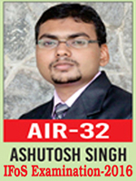 UPSC Civil Service Examination IFoS-2016 Successful Student AIR-32 Topper